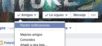 Notificaciones en Facebook